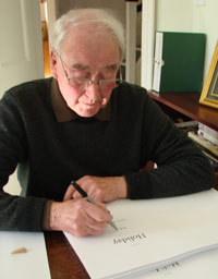 Stanley Middleton signng the First Chapter Series Vol III
